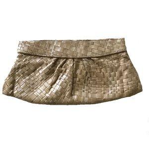 Lauren Merkin Woven Leather Clutch in Tan!